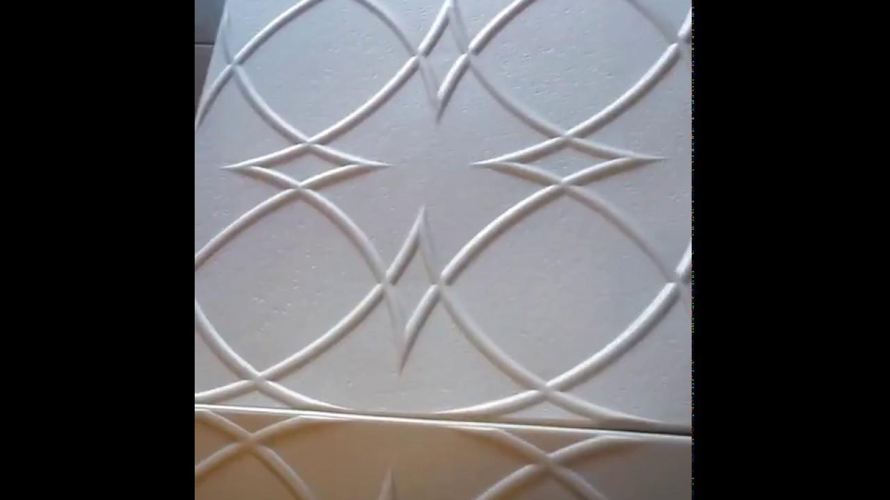 Designer Ceiling Tiles R82 Styrofoam Ceiling Tile Youtube