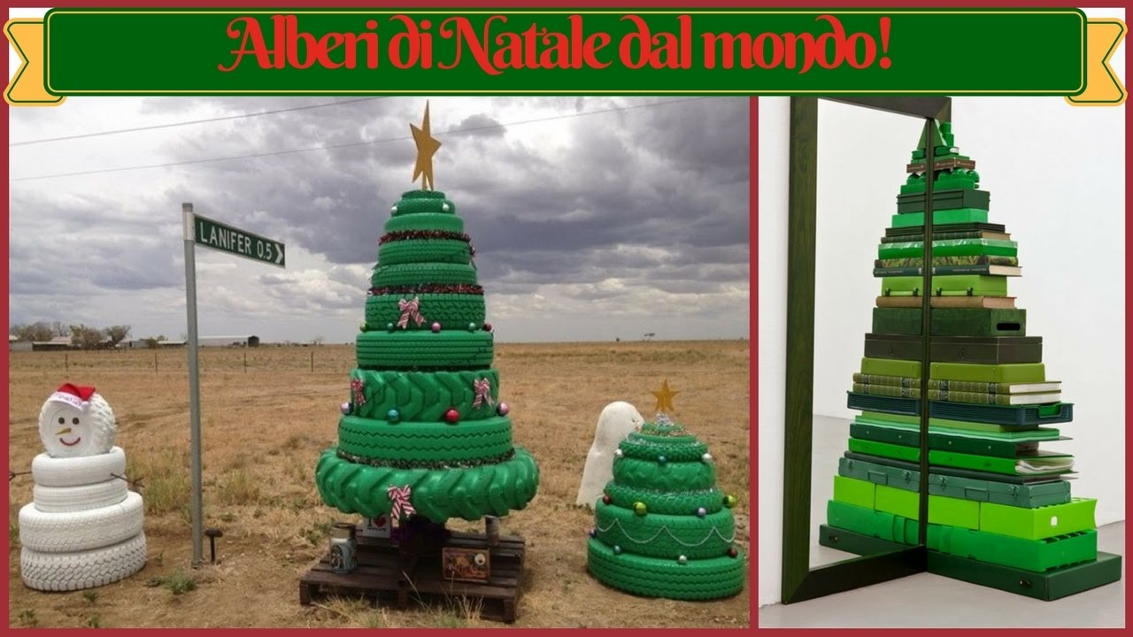 Alberi Di Natale In Legno Addobbati : Gli alberi di natale più originali del mondo idee per un
