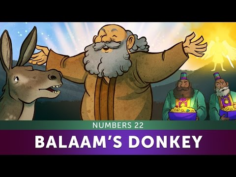 Sunday School Lesson - Balaam's Donkey - Numbers 22 - Bible Teaching Stories for Christianity