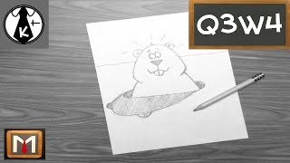 How to Draw a Groundhog and His Shadow