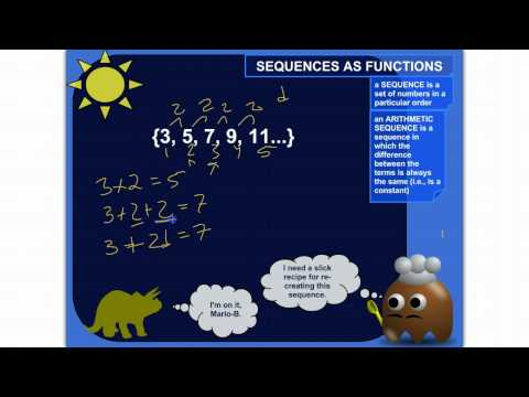 Writing Arithmetic Sequences As Functions