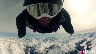 Awesome Wingsuit & Speedflying with Andri Huder in Beautiful Swiss Alps