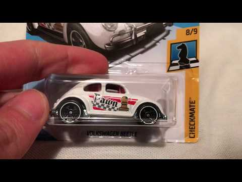 Hot Wheels Volkswagen Beetle (2018 Checkmate - Pawn | White Recolor)