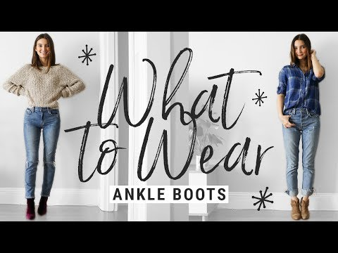 how to style ANKLE BOOTS!  WHAT TO WEAR with booties this fall!