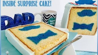 How To Make An Inside Surprise Father's Day Cake! A Father's Day Collaboration Video