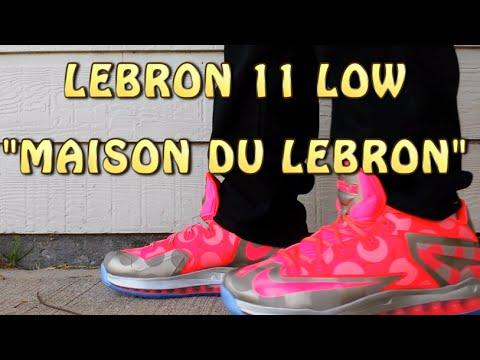 8b5901bbf2b9 Lebron 11 Low - Maison Du Lebron collection Metallic Zinc - Hyper Punch Ice  - Review