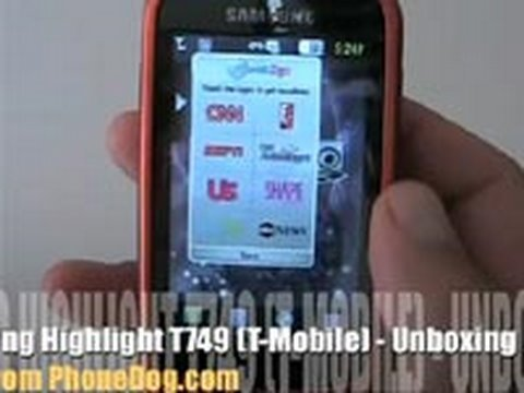 Samsung Highlight T749 (T-Mobile) - Unboxing