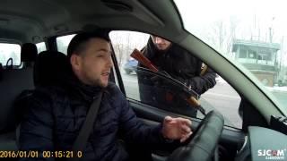 """Остановка """"Беспричинная """" Полиция Харькова, пост ГАИ Рогань"""