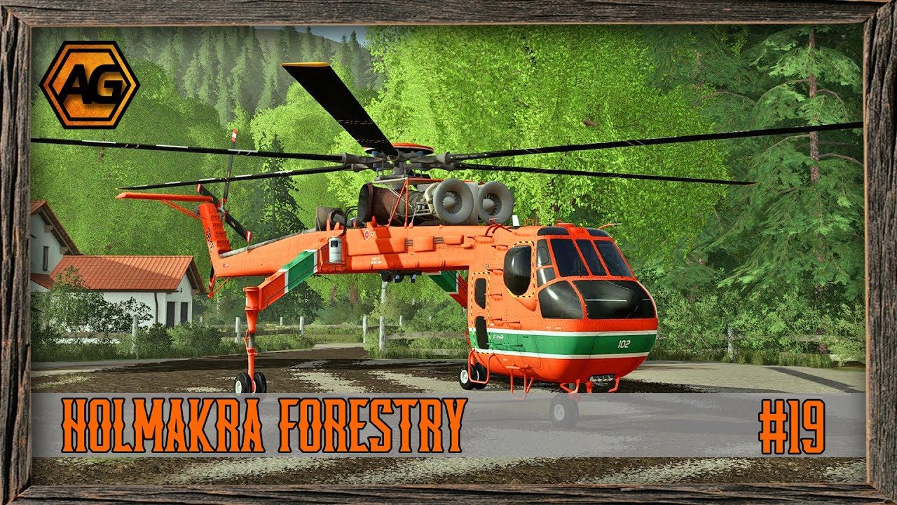 Download Heli-Logging with the FDR Helicopter- Holmakra Forestry Timelapse - FS19 - Ep 19