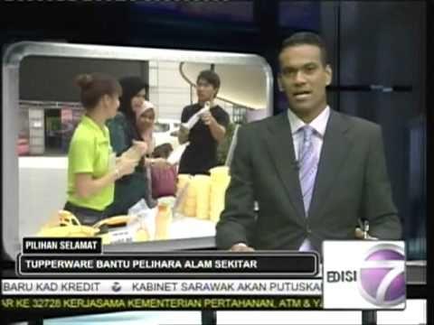 Tupperware's TaPau Set: NTV 7 news at 7pm (BM)