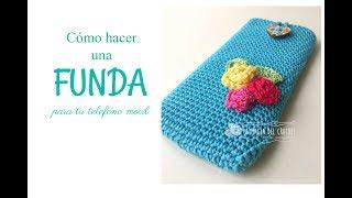 Cómo hacer una funda para tu telefono movil a crochet/ganchillo/uncinetto/häkeln ----Denice