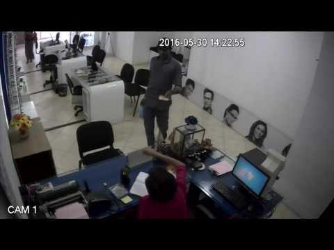 CCTV money rob in camera
