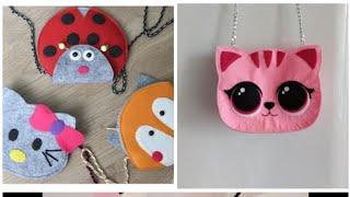 DIY.Create from felt,handbag-cat.   Творим из фетра,сумочка-котик.