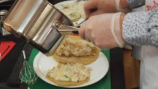 Cooking Class - Chicken with Corn and Cheese: Savoury Pancake