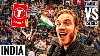 PewDiePie visits INDIA to STOP T-Series | PEWDIEPIE vs T SERIES
