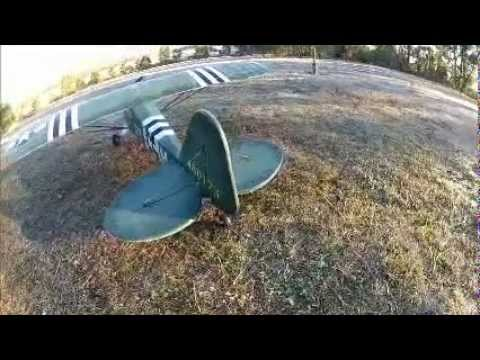 Morning Flight with L-4 Grasshopper 1400mm rc.mp4