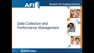 AFI New Grantee Orientation Webinar Four: Data and Reporting (2016)