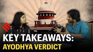 #AyodhyaVerdict: Key takeaways | Supreme Court Ram Mandir Verdict