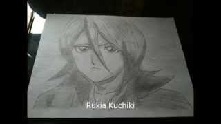 How to Draw Kuchiki Rukia -Rukia Kuchiki- 朽木 ルキア- Bleach- STEP BY STEP