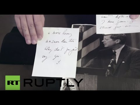 USA: JFK's secret love letter to CIA officer's wife set for auction in Boston