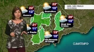 Previsão Grande SP – Ar seco predomina