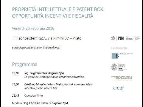 Proprietà intellettuali e Patent BOX: opportunità, incentivi e fiscalità