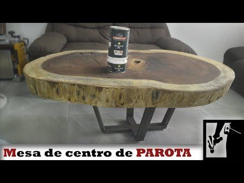 Mesa de centro de Parota o Huanacaxtle - Aceite Rubio Monocoat