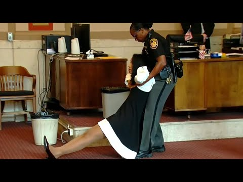Judge Dragged Out Of Courtroom After Being Sentenced To Jail