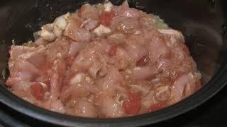 Курица в сливочном соусе с макаронами в мультиварке