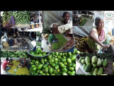 Village Market (Haat) tour in Bengal (India)/ Buying fresh vegetables.