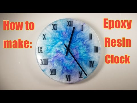 How to make a Epoxy Resin Clock tutorial 2