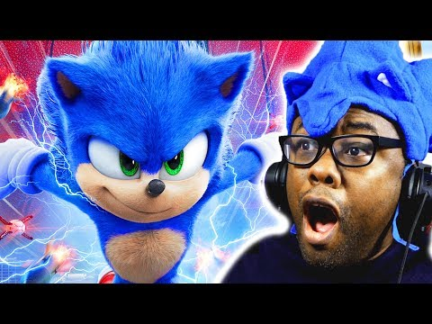NEW SONIC MOVIE TRAILER & DESIGN! Sonic The Hedgehog Trailer 2 Reaction | Black Nerd video screenshot