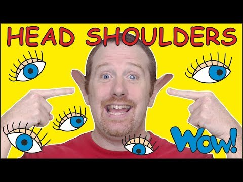 Head Shoulders Knees and Toes for Kids | Hide and Seek Story by Steve and Maggie | Wow English TV