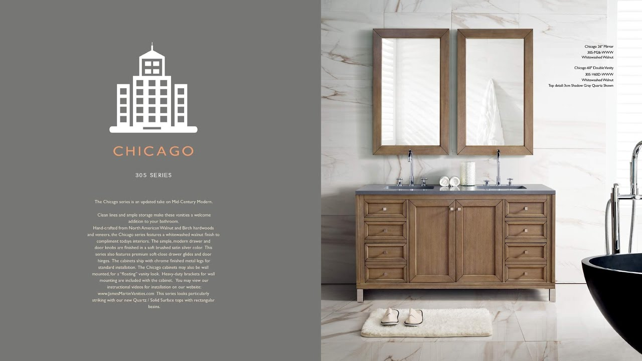 Chicago Collection Bathroom Vanity By James Martin Furniture