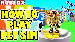 HOW TO PLAY PET SIMULATOR + TIPS AND TRICKS (GETTING RAINBOW AND GOLD PETS! & MASS DELETE) | ROBLOX