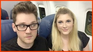 RED EYE FLIGHT ALRIGHT?!  // 12 Days of Vlogmas Day 8