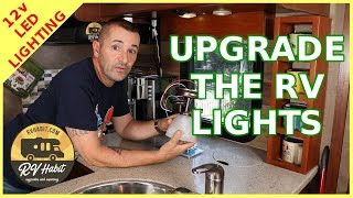 Replace And Upgrade The RV lighting With Chandelier Fixtures And 12 Volt LED Lights – Install Tips