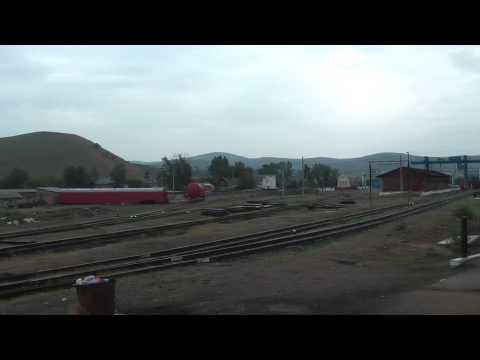 BORDER STOP MONGOLIA | Trans-Sib-Train arrives at Border Naushki