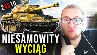 NIESAMOWITY WYCIĄG - 2 VS 10 - World of Tanks