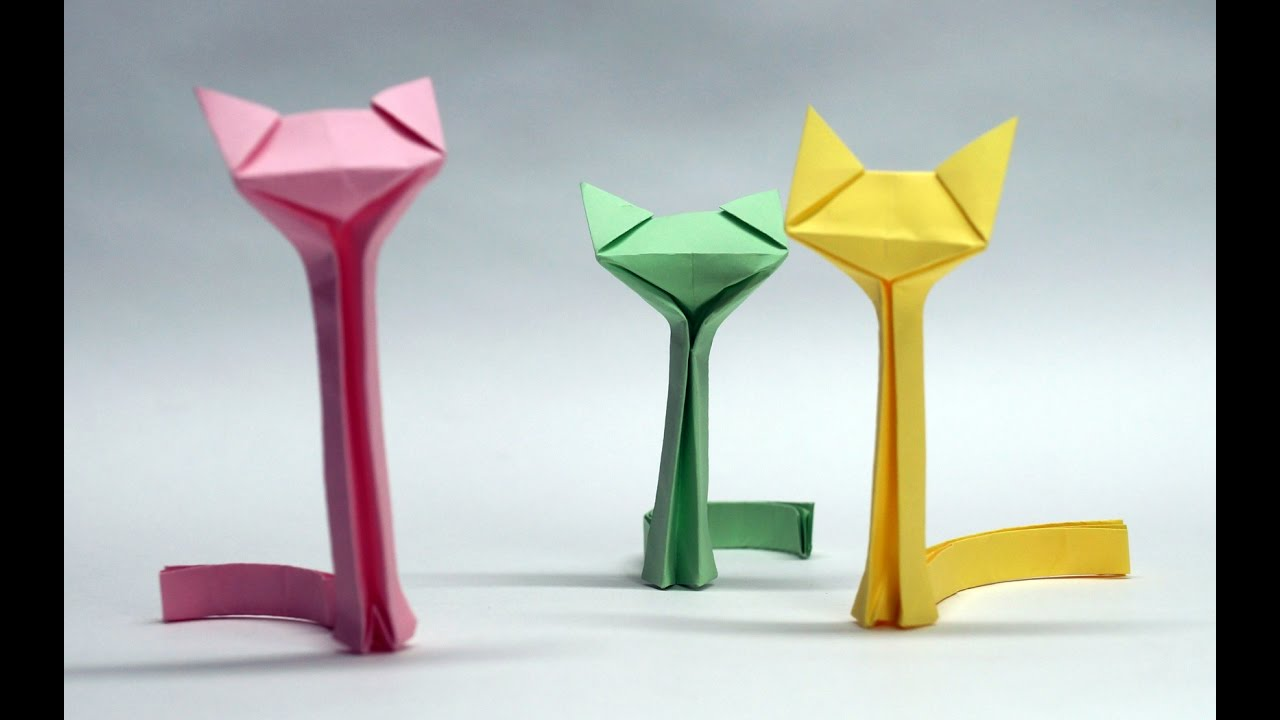 Origami Animals Easy How To Make CAT Paper Cat Step By DIY Beauty And