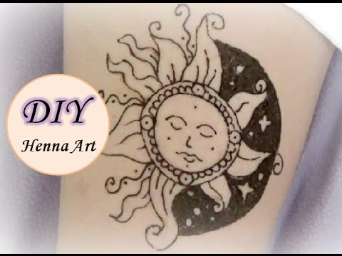 Diy Henna Art Detailed Sun Design Youtube