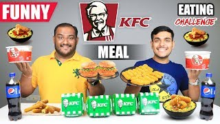 FUNNY KFC MEAL EATING CHALLENGE | Kfc Burger & Rice Bowl Eating Competition | Food Challenge