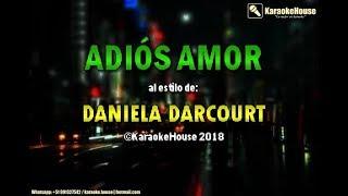 Karaoke | Adiós Amor (Coros) - Daniela Darcourt