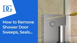 How to Replace Your Frameless Shower Door Sweeps and Jambs   Dulles Glass & Mirror