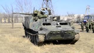 Отдача ЗУ-23-2 заставляет качаться даже МТЛБ