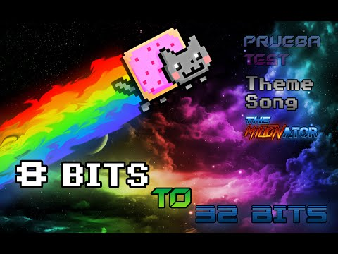 Nyan Cat Theme Song  8 Bits To 32 Bits