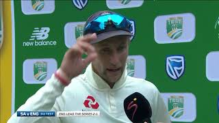 South Africa v England  3rd Test Day 5  Post-match interview with Root