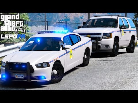 GTA 5 LSPDFR Police Mod 450 | Mississippi Highway Safety Patrol | Speed Trap On The Freeway