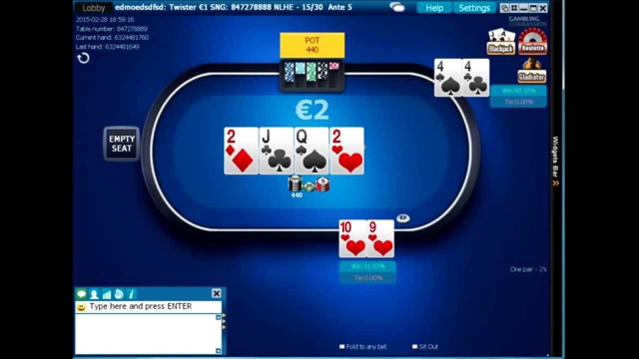 Playing online poker tournaments for a living odds payouts in craps