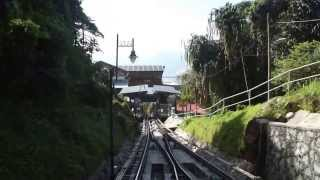Penang hill Funicular going down